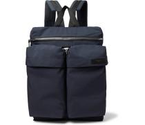 Grosgrain-trimmed Shell Backpack