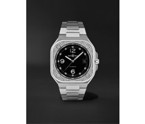 BR 05 Automatic 40mm Stainless Steel and Diamond Watch, Ref. No. BR05A-BL-STFLD/SST