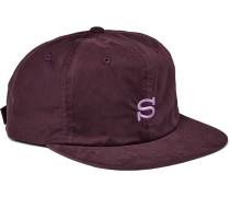 Embroidered Waxed Cotton-blend Baseball Cap
