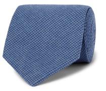8cm Puppytooth Organic Cotton-Blend Tie