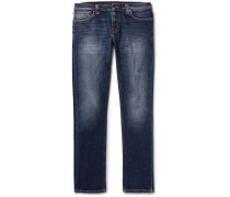 Tight Long John Skinny-fit Organic Stretch-denim Jeans