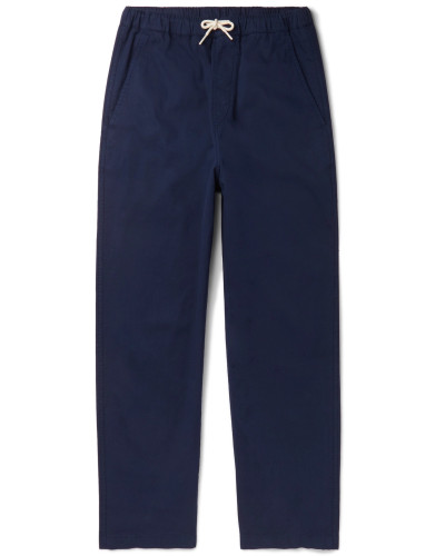 Cotton-Blend Twill Drawstring Trousers