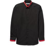 Slim-fit Contrast-tipped Cotton-poplin Shirt