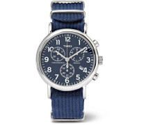 Weekender Stainless Steel And Webbing Chronograph Watch