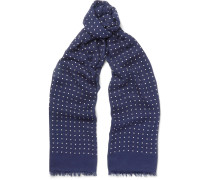 Polka-dot Modal And Cashmere-blend Scarf