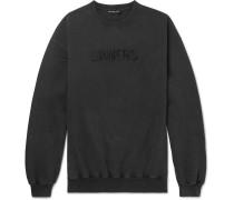 Oversized Embroidered Cotton-jersey Sweatshirt