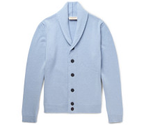 Patterson Slim-fit Shawl-collar Merino Wool And Cashmere-blend Cardigan