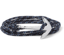 Anchor Cord Sterling Silver Wrap Bracelet