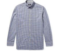 London Button-down Collar Gingham Cotton Shirt