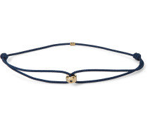 Gold and Cord Bracelet