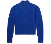 Aran-knit Wool And Cashmere-blend Sweater