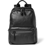 Leather And Shell Backpack