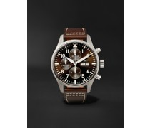 Pilot's Antoine de Saint-Exupéry Edition Automatic Chronograph 43mm Stainless Steel and Leather Watch, Ref. No. IW377713