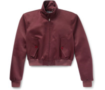 Slim-fit Cropped Cotton-blend Twill Harrington Jacket