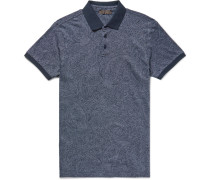Slim-fit Paisley-print Cotton-piqué Polo Shirt