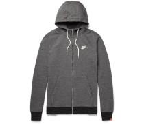 Legacy Mélange Loopback Cotton-jersey Zip-up Hoodie