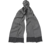 Printed Wool, Silk And Cashmere-blend Scarf