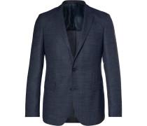 Navy Roan Wool-blend Blazer