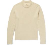 Waffle-knit Stretch-cotton Sweater