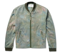 Tie-dyed Stretch-cotton Bomber Jacket
