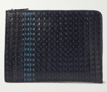 Woven Leather Document Holder