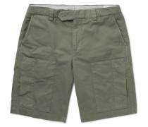 Cotton-blend Twill Cargo Shorts