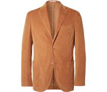 Camel Slim-fit Stretch-cotton Corduroy Blazer