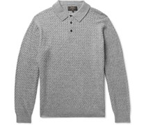 Cable-Knit Wool-Blend Polo Shirt