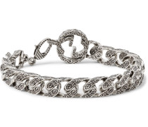 Rhodium-plated Chain Bracelet