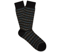 Fulwell Patterned Merino Wool-blend Socks
