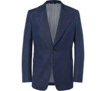 Blue Slim-fit Denim Blazer