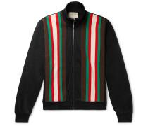 Slim-Fit Webbing-Trimmed Tech-Jersey Track Jacket