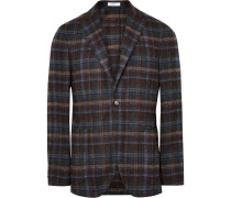 K-jacket Slim-fit Checked Alpaca-blend Blazer