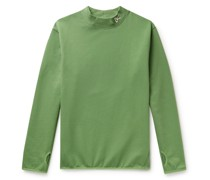 Hiei Logo-Embroidered Loopback Cotton-Jersey Sweatshirt