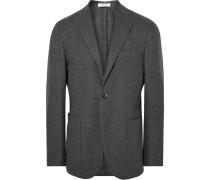 Grey K-jacket Slim-fit Wool And Cashmere-blend Blazer