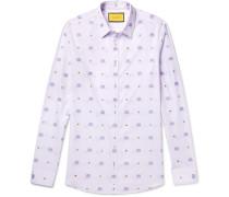 Slim-fit Cotton-jacquard Shirt