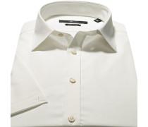 Herren Hemd, Stretch-Popeline, wollweiß