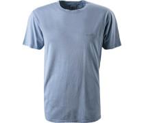 T-Shirt, Long Fit, Baumwolle, rauch