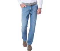 Herren Jeans Modern Fit Baumwoll-Stretch hell