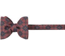 Krawatte Schleife Seide marineblau-braun