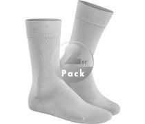 Socken Baumwolle silber
