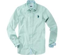 Herren Hemd Regular Fit Baumwolle mintgrün
