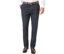 Herren Hose Chino Regular Fit Baumwoll-Stretch dunkelblau