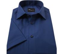 Herren Hemd, Slim Fit, Popeline, navy blau