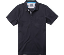 Herren Polo-Shirt Baumwoll-Piqué nacht