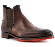 Schuhe Chelsea Boots Leder testa di moro