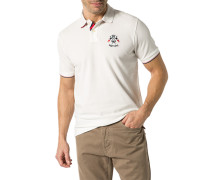 Herren Polo-Shirt Baumwoll-Piqué wollweiß