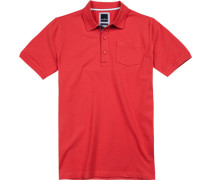 Herren Polo-Shirt Modern Fit Baumwoll-Piqué koralle orange