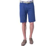 Herren Hose Bermudashorts Baumwolle royalblau