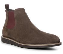 Herren Schuhe Chelsea Boots, Veloursleder, greige beige